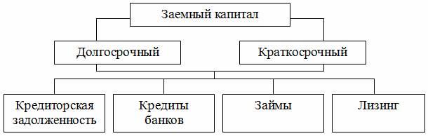 Структура собственного и заемного капитала предприятия